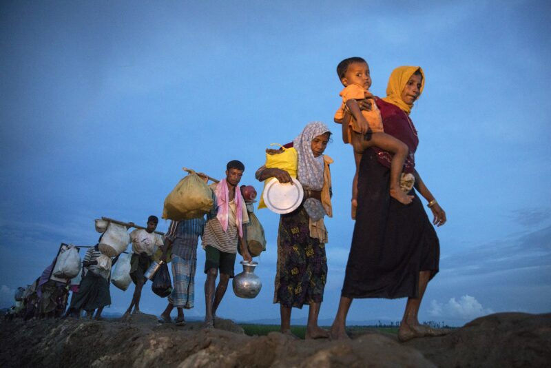 Rohingya refugees in Bangladesh.