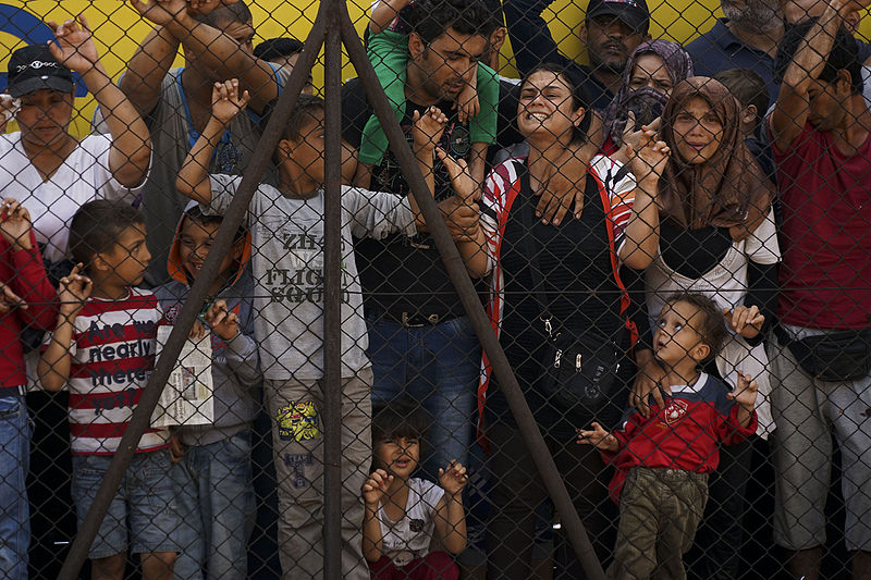 Syrian refugees in Budapest