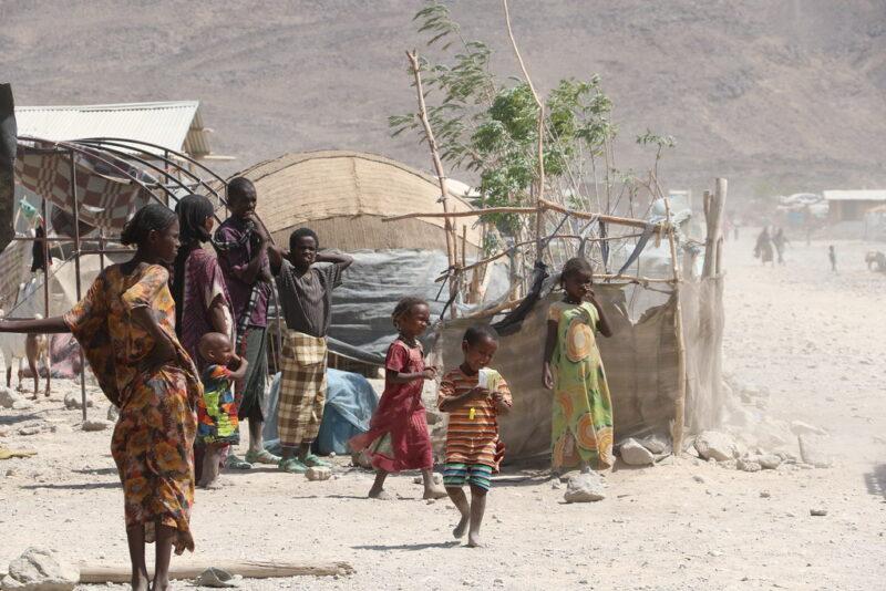 Eritrean refugees in Ethiopia.